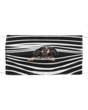 Bluetick Coonhound Stripes FM Cloth face mask front
