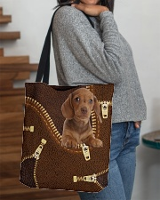Dachshund Zip LT All-over Tote aos-all-over-tote-lifestyle-front-09