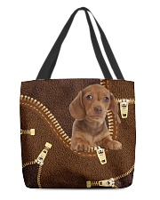 Dachshund Zip LT All-over Tote front