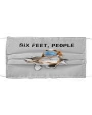 Beagle Six Feet People FM Cloth face mask front