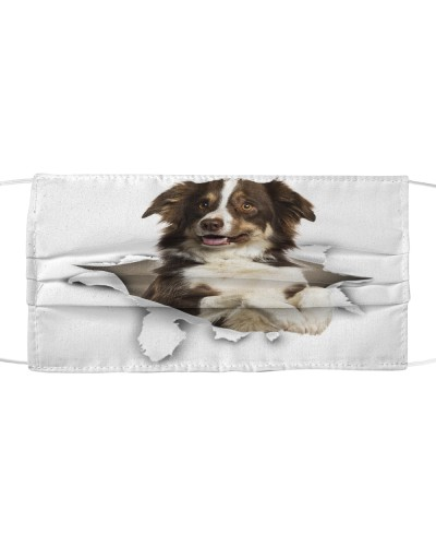 Border Collie Torn Paper Face