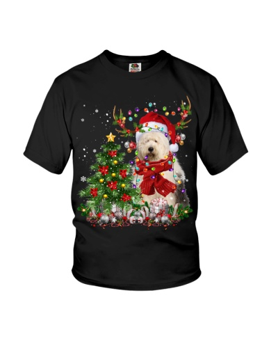 Old English Sheepdog-Reindeer-Christmas