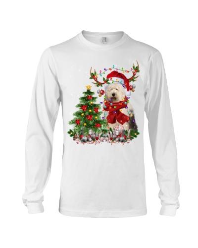 Old English Sheepdog-Reindeer-Christmas