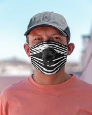 Black Toy Poodle Stripes FM Cloth face mask aos-face-mask-lifestyle-06