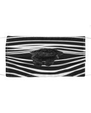 Black Toy Poodle Stripes FM Cloth face mask front