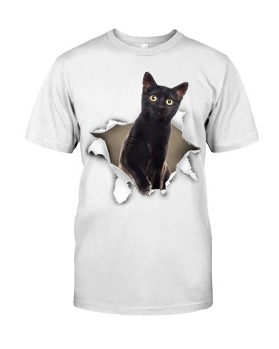 Black Cat-Torn Paper