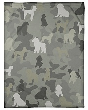 "phantom poodle-camouflage Small Fleece Blanket - 30"" x 40"" thumbnail"