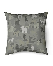 "phantom poodle-camouflage Indoor Pillow - 16"" x 16"" thumbnail"