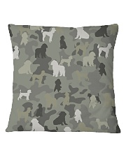 phantom poodle-camouflage Square Pillowcase thumbnail
