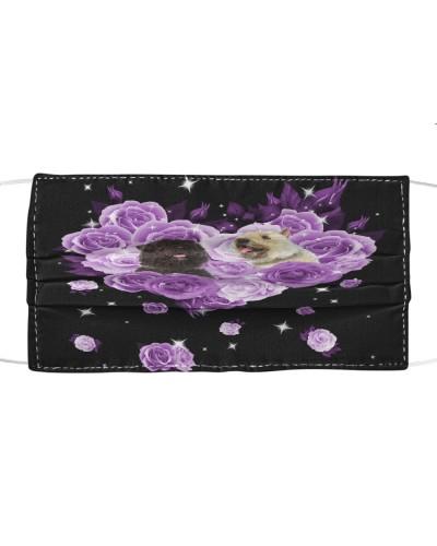 Bouvier Des Flandres Purple Flower Heart Face