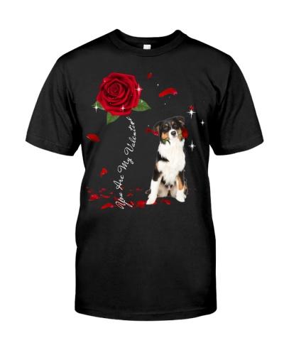 Australian Shepherd is My Valentine-Rose