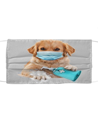 Golden Retriever-Face Mask-Wash