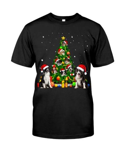Border Collie-Christmas Tree-1