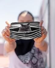 Korat Cat Stripes FM Cloth face mask aos-face-mask-lifestyle-07