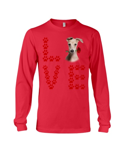 Italian Greyhound Paw Love Rose
