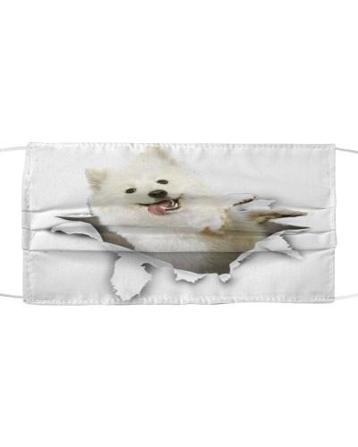 Samoyed Torn Paper Face