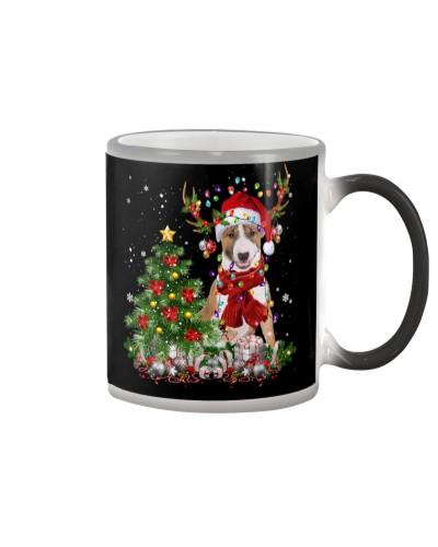 Bull Terrier-Reindeer-Christmas