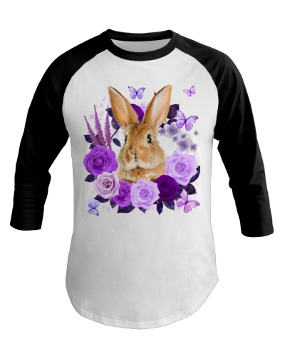 Rabbit Purple Flower Face