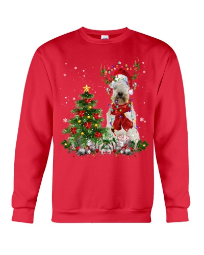Soft-coated Wheaten Terrier-Reindeer-Christmas