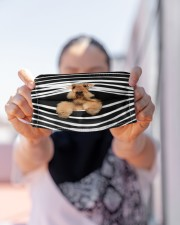 Airedale Terrier Stripes FM Cloth face mask aos-face-mask-lifestyle-07