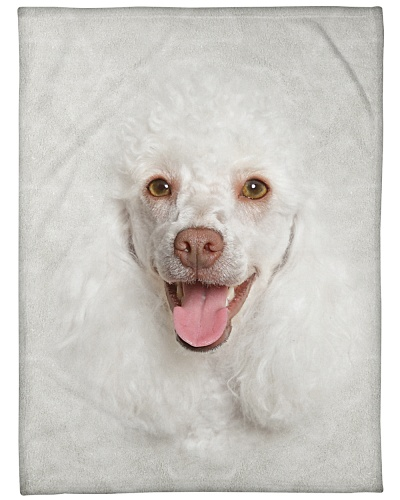 White Poodle Face 3D
