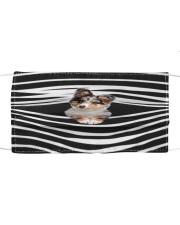 Shetland Sheepdog Stripes FM Cloth face mask front