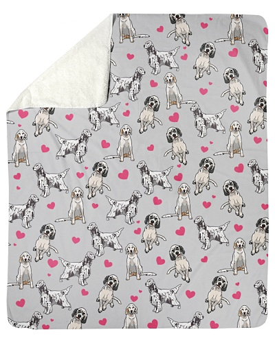 English Setter-Heart-Blk