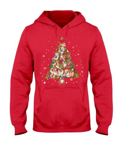 English Bulldog-Christmas Tree