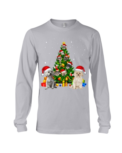 Morkie-Christmas Tree