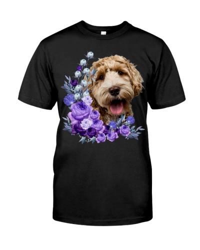 Labradoodle-Purple Flower Stems
