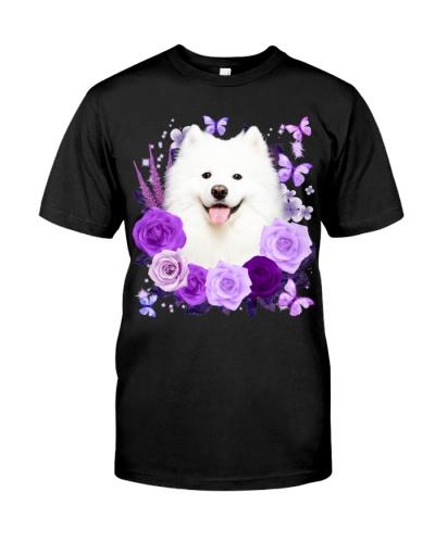 Samoyed-Purple Flower