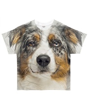 Australian Shepherd-Face and Hair All-over T-Shirt front