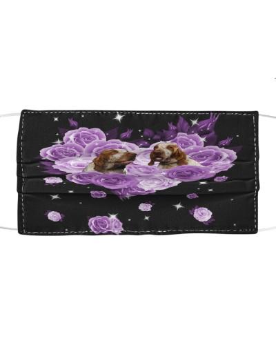 Bracco Italiano Purple Flower Heart Face