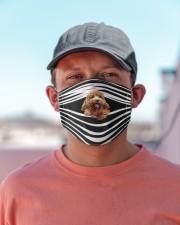 Poodle Stripes FM Cloth face mask aos-face-mask-lifestyle-06