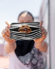 Poodle Stripes FM Cloth face mask aos-face-mask-lifestyle-07