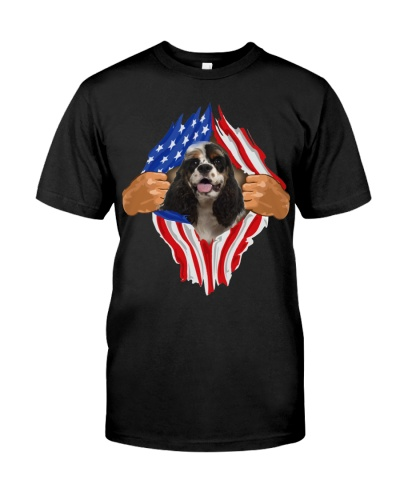 American Cocker Spaniel-Torn-Flag USA