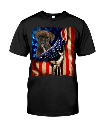 Boxer American Flag-Front