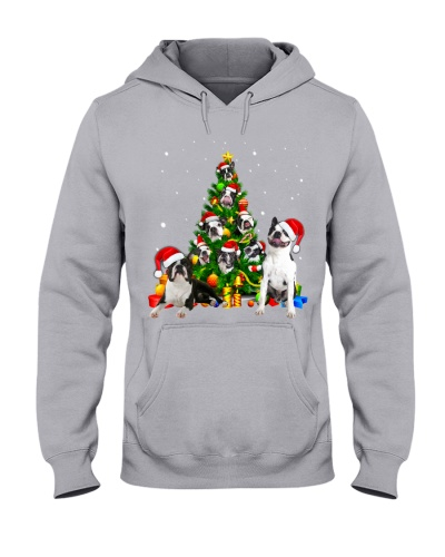 Boston Terrier-Christmas Tree-1
