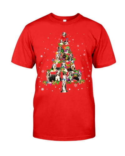 Bearded Collie- Christmas Tree