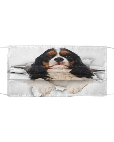 Cavalier King Charles Spaniel Torn Paper Face