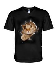 CAT - 3D V-Neck T-Shirt thumbnail