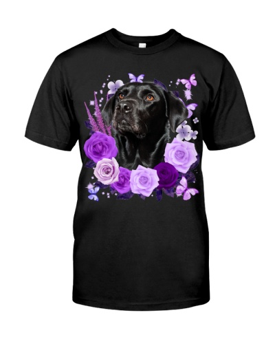 Labrador-Black02-Purple Flower