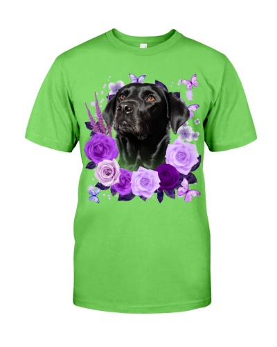 Labrador-Black02-Purple Flower