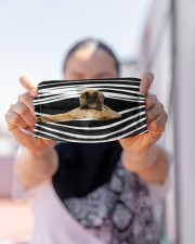 Afghan Hound Stripes FM Cloth face mask aos-face-mask-lifestyle-07