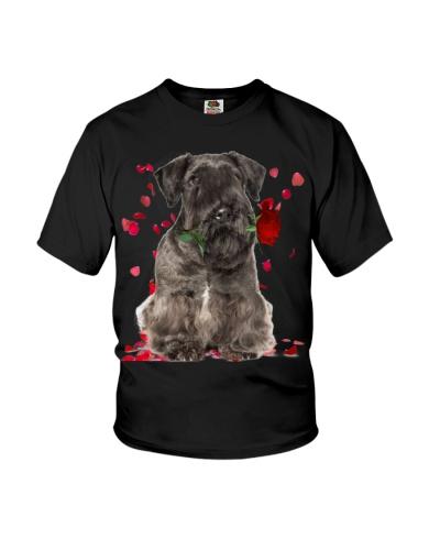 Cesky Terrier Raining Red Roses