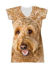 Goldendoodle-Face and Hair All-over Dress thumbnail