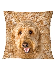 Goldendoodle-Face and Hair Square Pillowcase thumbnail