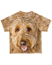 Goldendoodle-Face and Hair All-over T-Shirt back