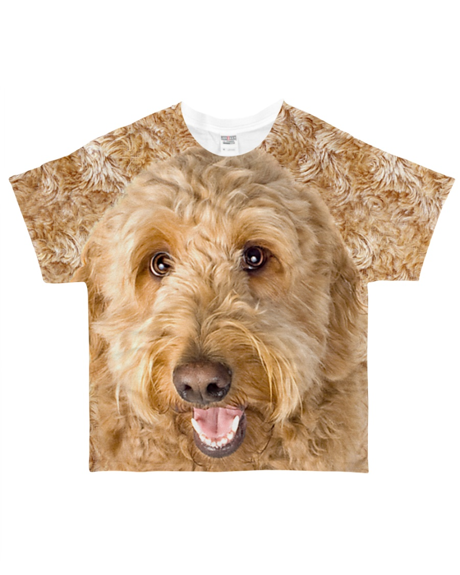 Goldendoodle-Face and Hair All-over T-Shirt