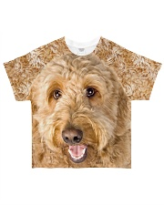 Goldendoodle-Face and Hair All-over T-Shirt front